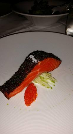 Tetsuya's: Confit of Petuna Ocean Trout with a Salad of Celery, Witlof, Apple and Unpasteurized Ocean Trout