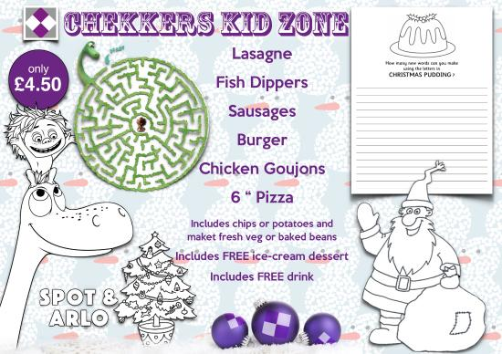 Chekkers: Kids Menu