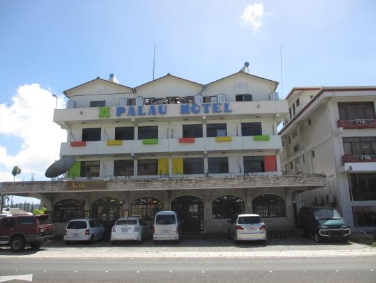 Palau Hotel: Hotel as seen from Koror Main Street