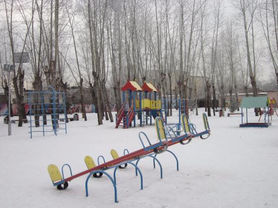 Детская площадка в совхозе имени