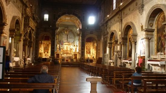 Nave central - Picture of Chiesa di Ognissanti, Florence ...