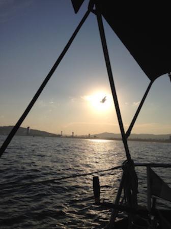 Barcelona, Spain: Sunset cruise sthan sailing