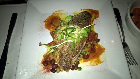 Spanish River Grill: Crispy Skin Snapper (my wife's entree)