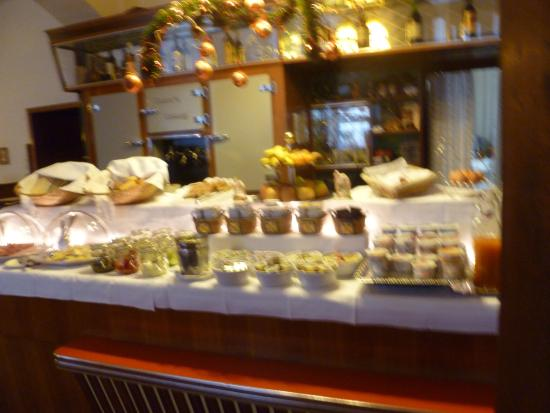 Pension Kraml: Breakfast choices (sorry for the focus)
