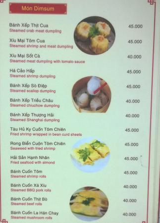 Menu - Sample Dim Sum Items - Picture Of My Dym Sum Restaurant, Ho