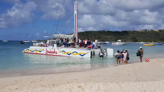 Simpson Bay, St. Maarten-St. Martin: The Lambada on the beach letting people off for lunch/swim