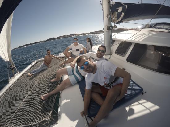 disfrutando del sol - Picture of Oby Catamaran, Corralejo - TripAdvisor