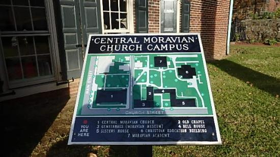 Moravian Campus Map.Complex Map Picture Of Moravian Museum Of Bethlehem Bethlehem
