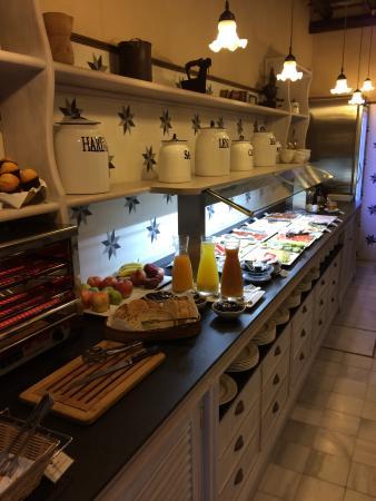 Hotel Casa 1800 Sevilla: Auswahl zum Frühstück / Kaffee