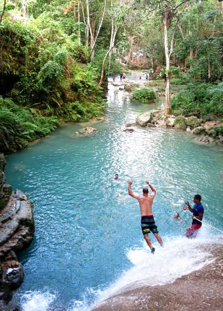 Liberty Tours Jamaica - Day Tours: Jumping off waterfalls into the blue hole