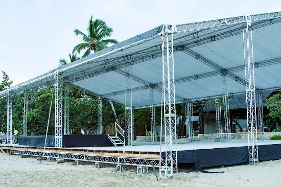Casa Colonial Beach & Spa: Wedding Reception construction