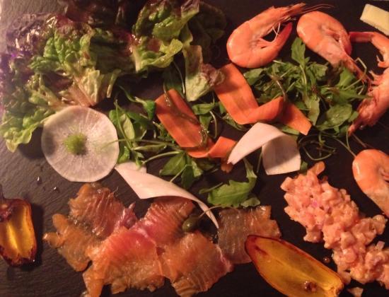 Peyriac-Minervois, Prancis: seafood platter appetizer