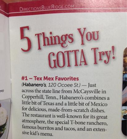 Copperhill, TN: Named #1 in Top 5 Things to Try