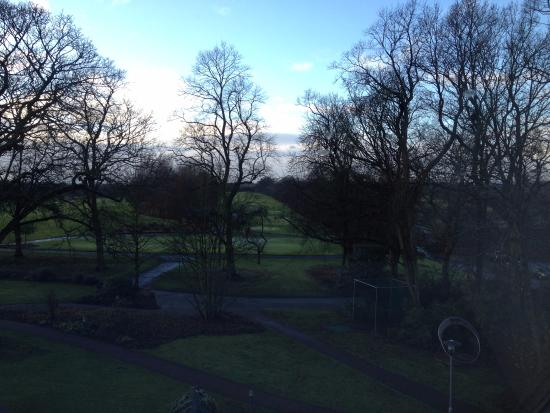 Worsley, UK: View of the grounds from the room