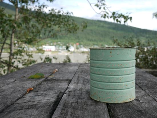 Dawson City River Hostel : View of River, Town and Wabi-Sabi Ashtray