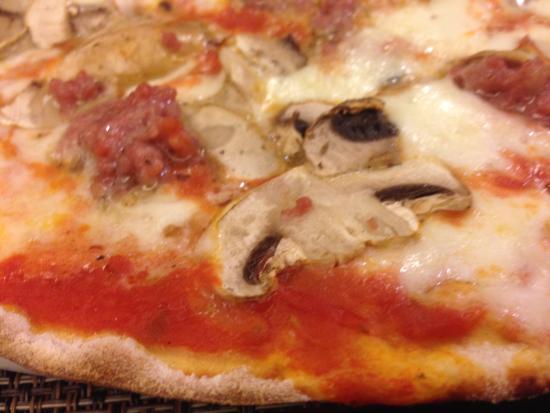 Panefformaggio: mmmm mushroom and pork pizza