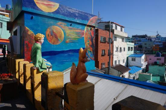 Gamcheon Culture Village: The Little prince statue