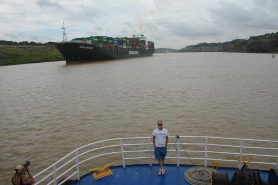Panama Canal Partial Transit Tour: On the Panama Canal.