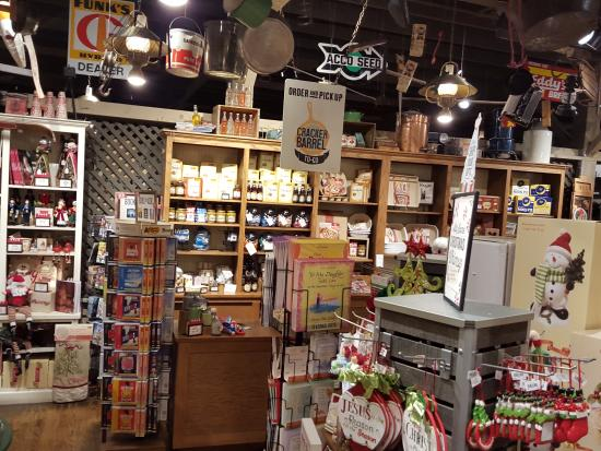 Cracker Barrel: THis store has so many neat things to buy
