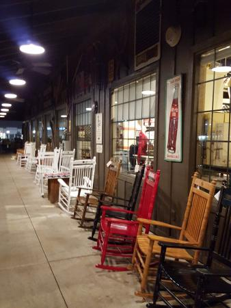 Cracker Barrel: Take time to kick back for a little in these rocking chairs