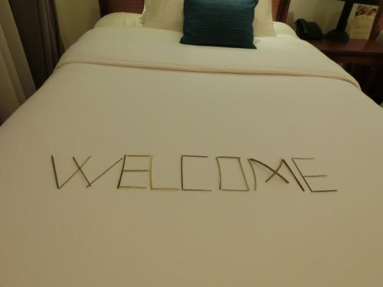 Apsara Centrepole Hotel: Welcome メッセージ