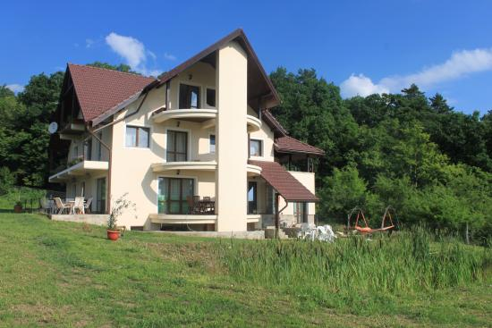 Cisnadioara, Rumania: View of the Forest Villa and the forest behind!