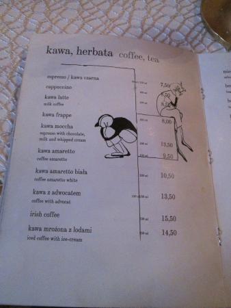 Cafe Camelot Krakow Menu