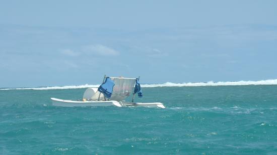 Victoria Beachcomber Resort & Spa: На катамаране подальше для изучения глубин