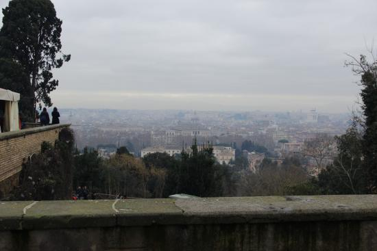 Residence San Pietro La Corte: view of Rome from Giannicolo