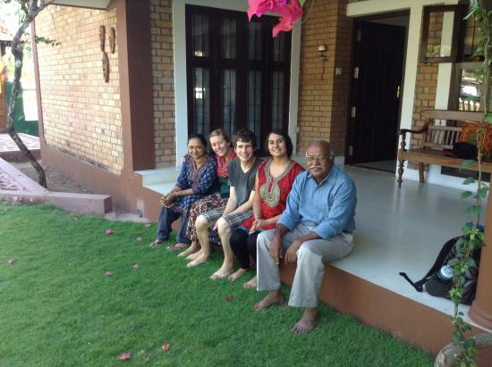 Tharavadu Homestay: The three of us with Maria and Zach