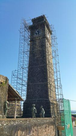 Clock Tower: Covered in scaffolding (December 2015)