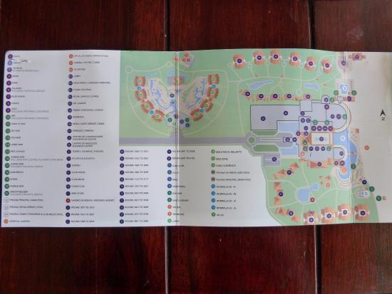 Célèbre Hotel MAP - Carte de l'hôtel - Picture of Paradisus Palma Real  RP71