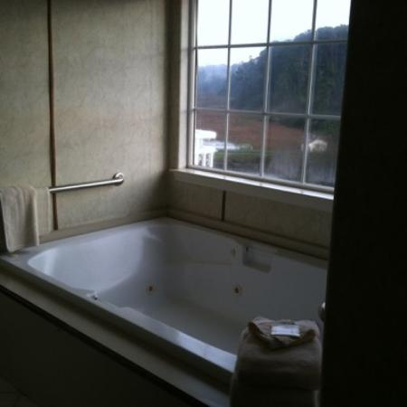 Beach House Inn: Peaceful soaking tub with all amenities