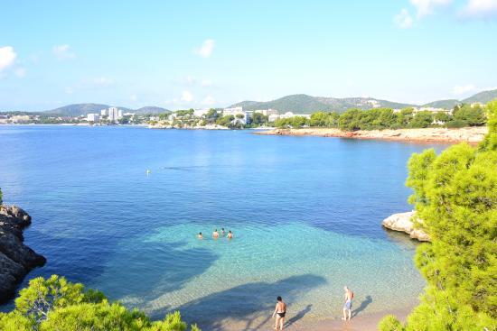 Costa d'en Blanes, España: Beach view