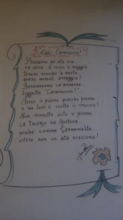 Carminuccio a Mergellina: Посвящение