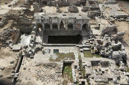 Fordongianus, Itália: Veduta area complesso termale di Forum Traiani