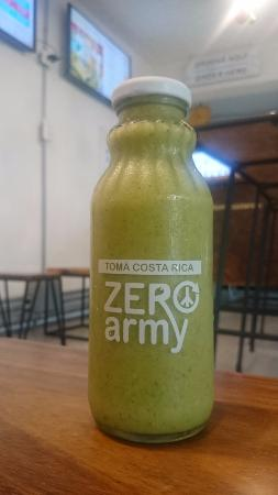 Zero Army: Corcovado Verde, I forgot what it had, but it was good. Spinach I think.