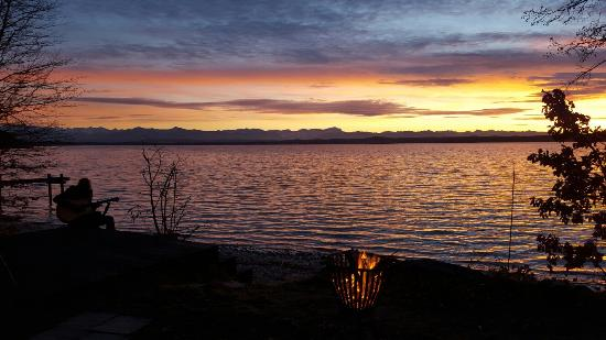 sonnenuntergang am ostufer ambach foto di starnberger see starnberg tripadvisor. Black Bedroom Furniture Sets. Home Design Ideas
