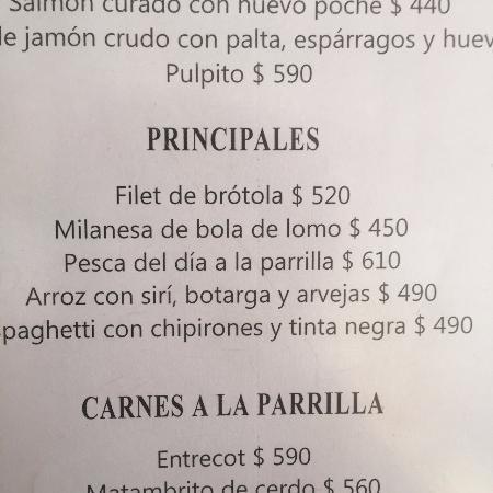 La Huella: CARDÁPIO