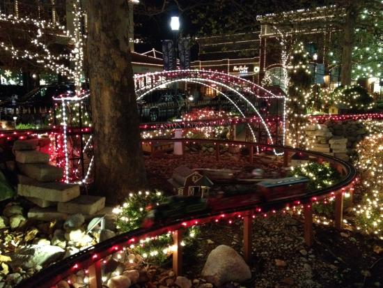 The Miniature Train Is More Entrancing With Its Holiday