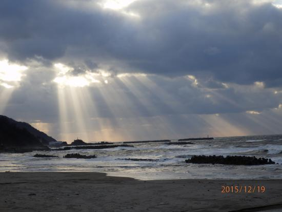 Yunohama Onsen: 冬の日本海