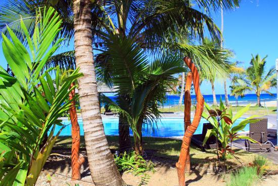 Hotel Tieti Poindimie: Vu depuis la terrasse