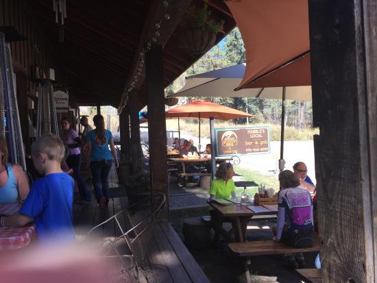 Marble, Colorado: Outdoor dining