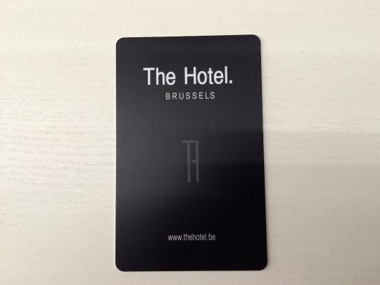 The Hotel Key Card Picture Of The Hotel Brussels