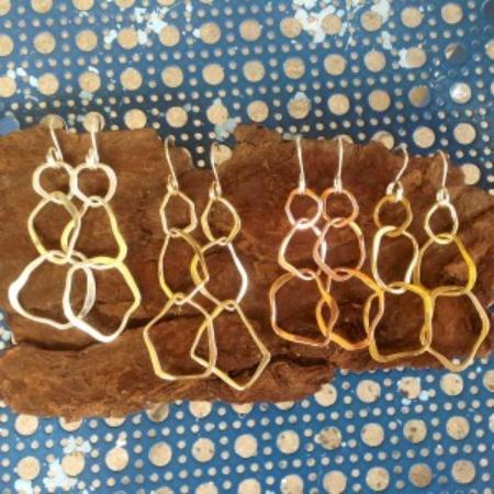 Crucian Gold : Shard earrings