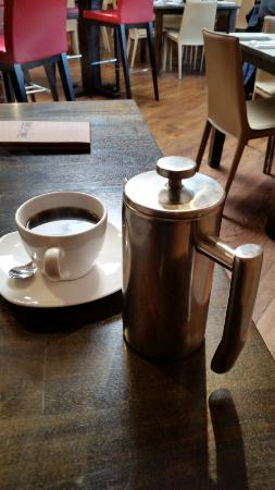 Williamstown, MA: Single serving French press coffee.