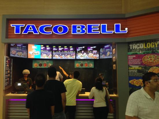 Front Desk At Taco Bell Oberoi Mall