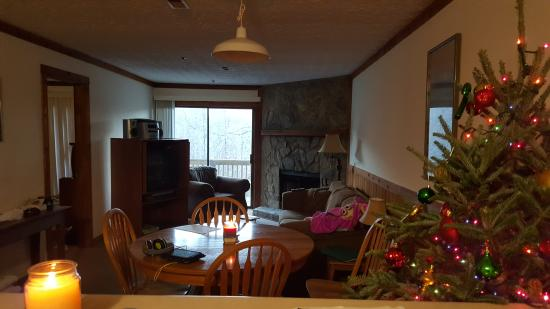 Alpine Crest Resort: View of living room as seen from kitchen (2br/2bath)