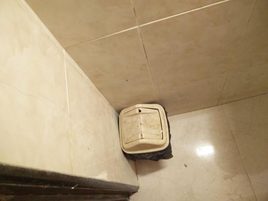 Hotel Mina International: Dirty Trash box in washroom