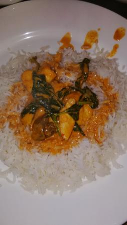 The Gordon House Hotel: Thai chicken curry with steamed rice